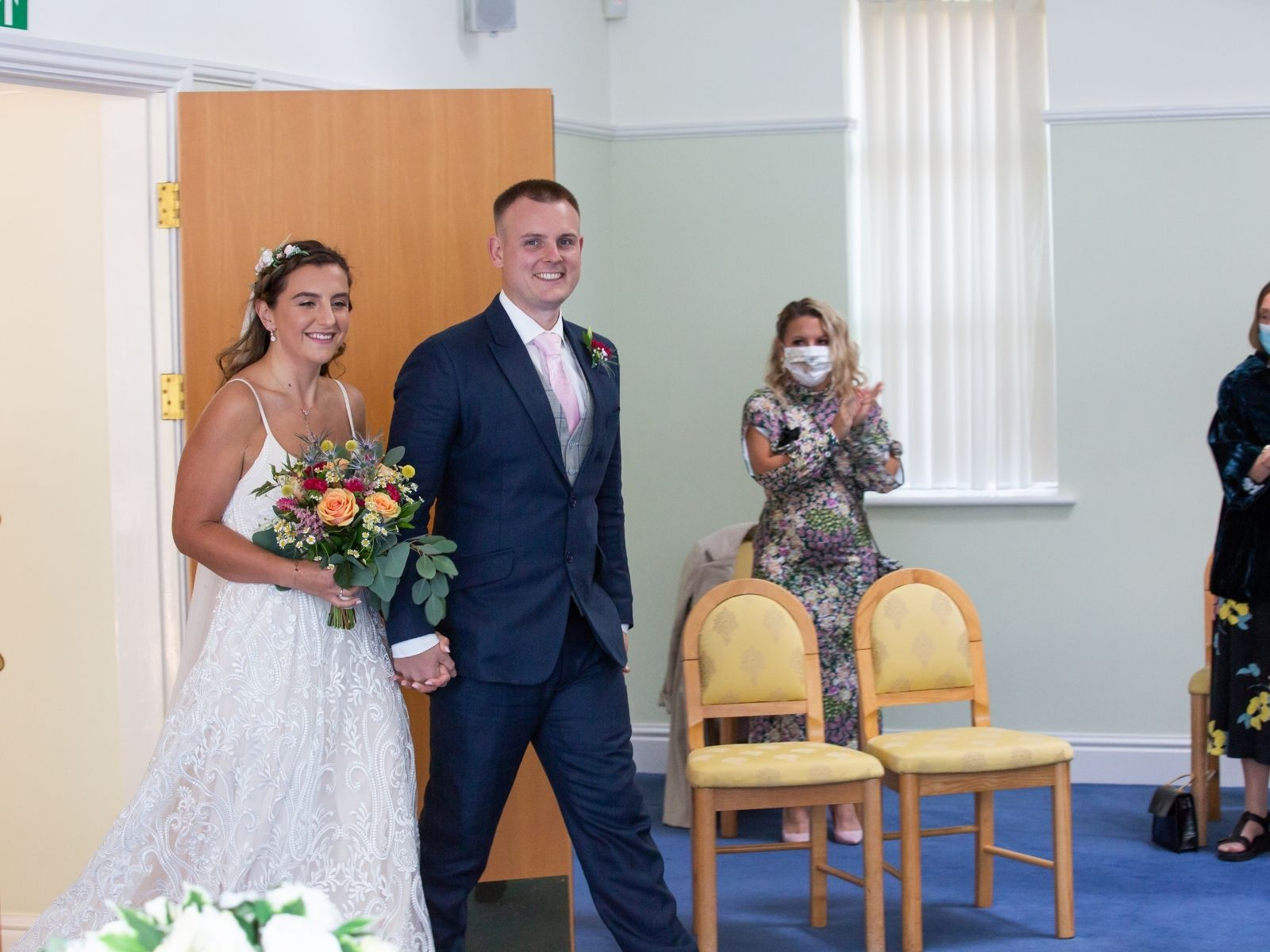 Lockdown wedding ceremony