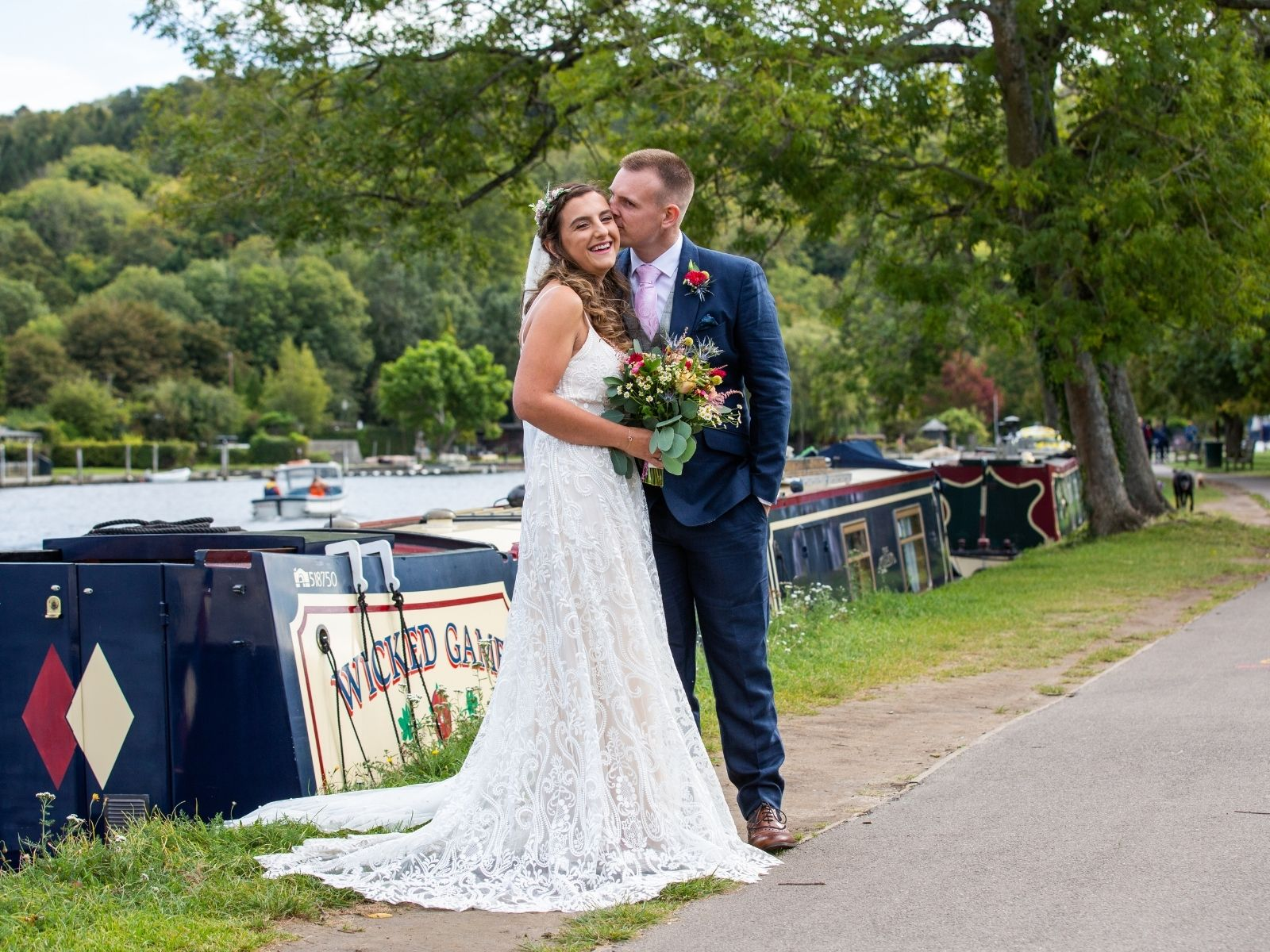 Outdoor lockdown wedding in Henley