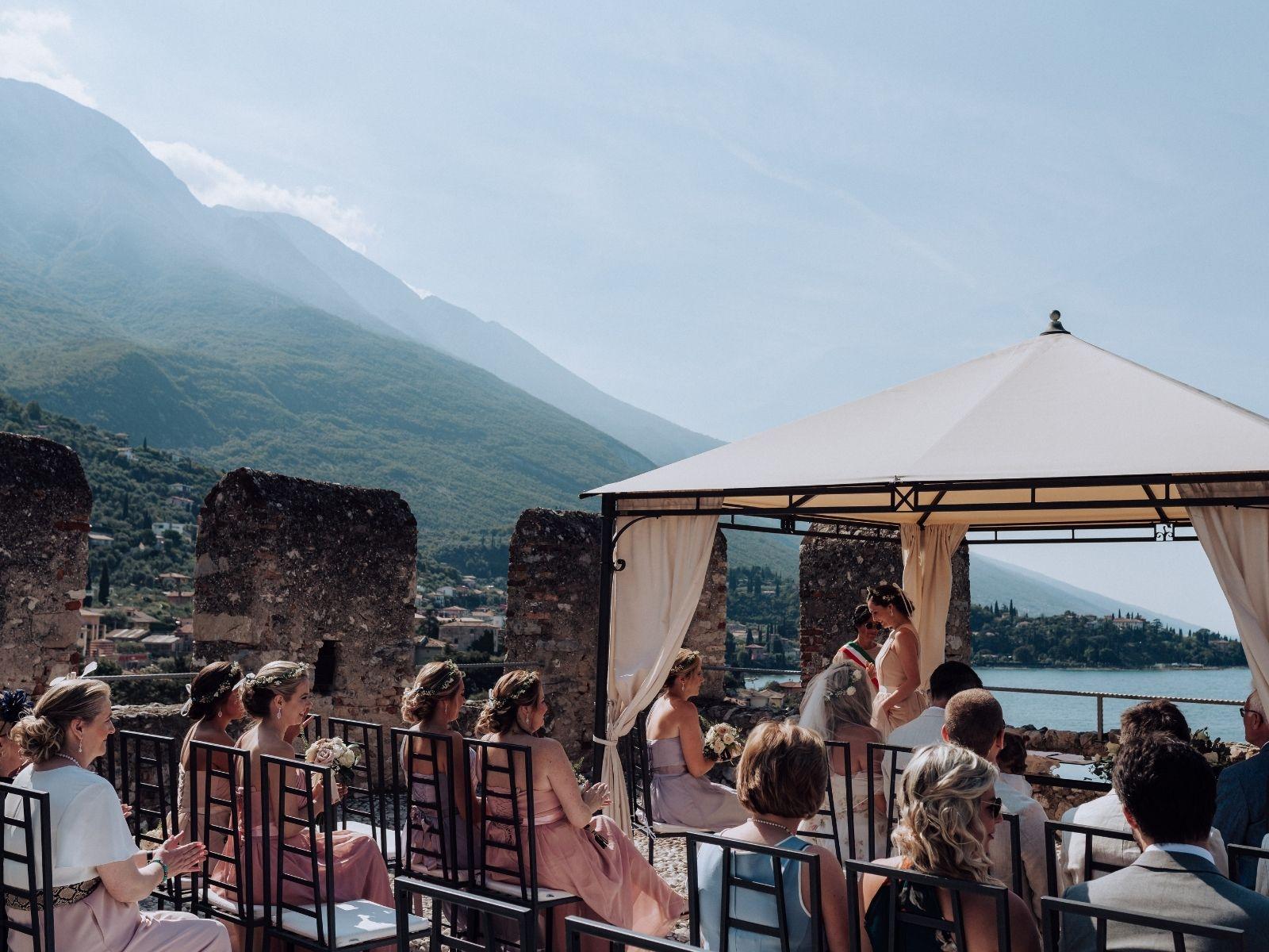 Wedding ceremony Italy destination wedding