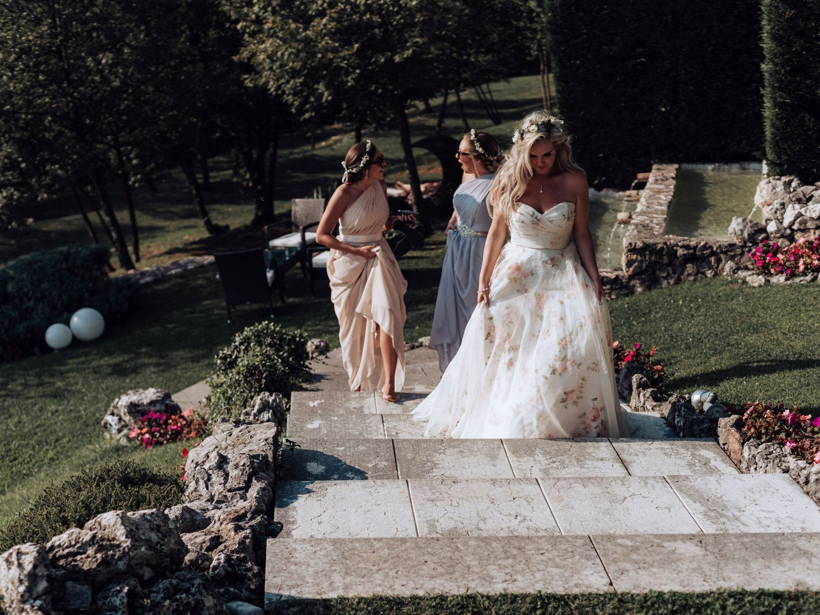 Floral wedding dress boho bride