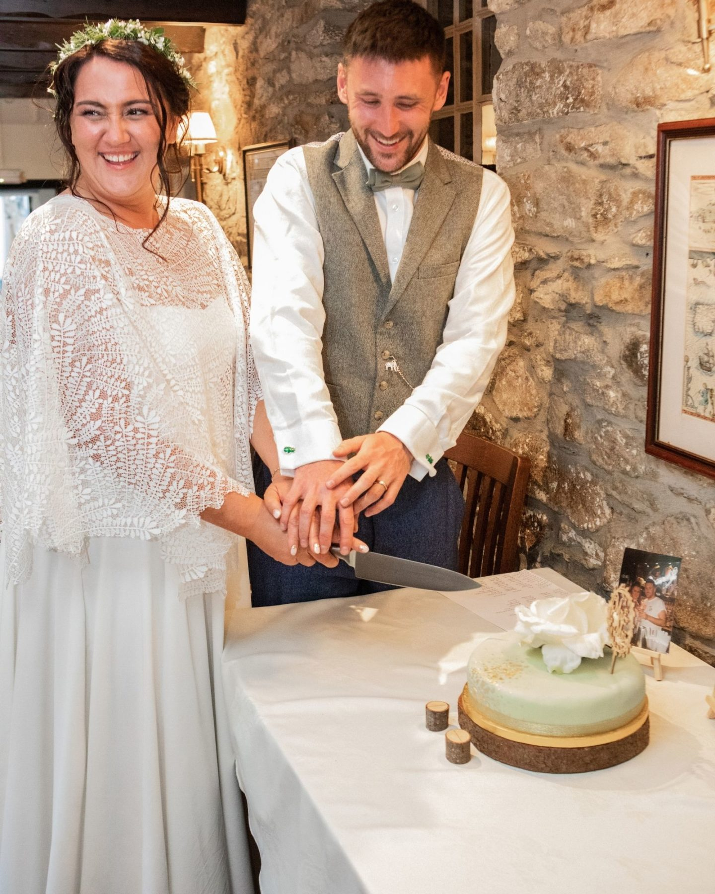 Bohemian wedding bespoke boho wedding dress