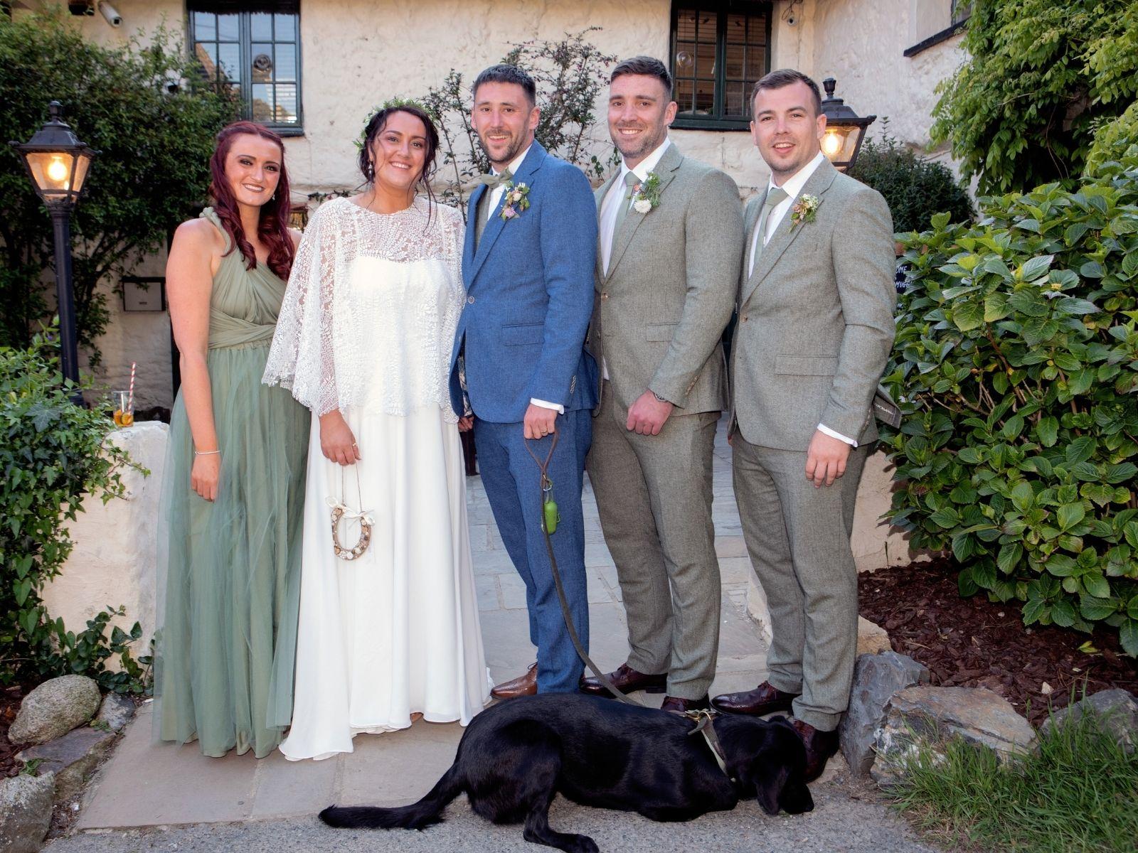 Intimate cornish wedding