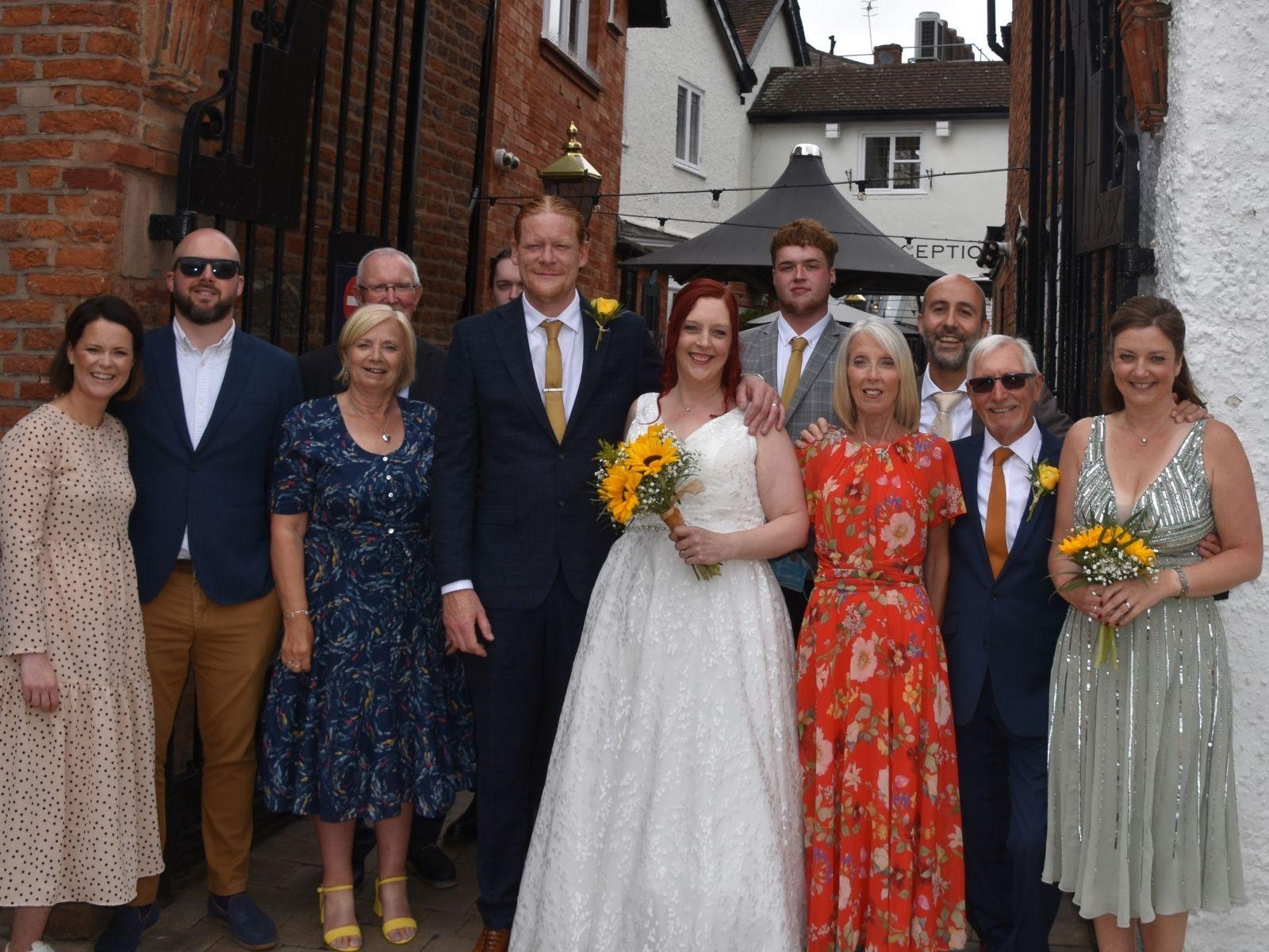 Estelle's wedding at the White Swan Hotel, Stratford-Upon-Avon