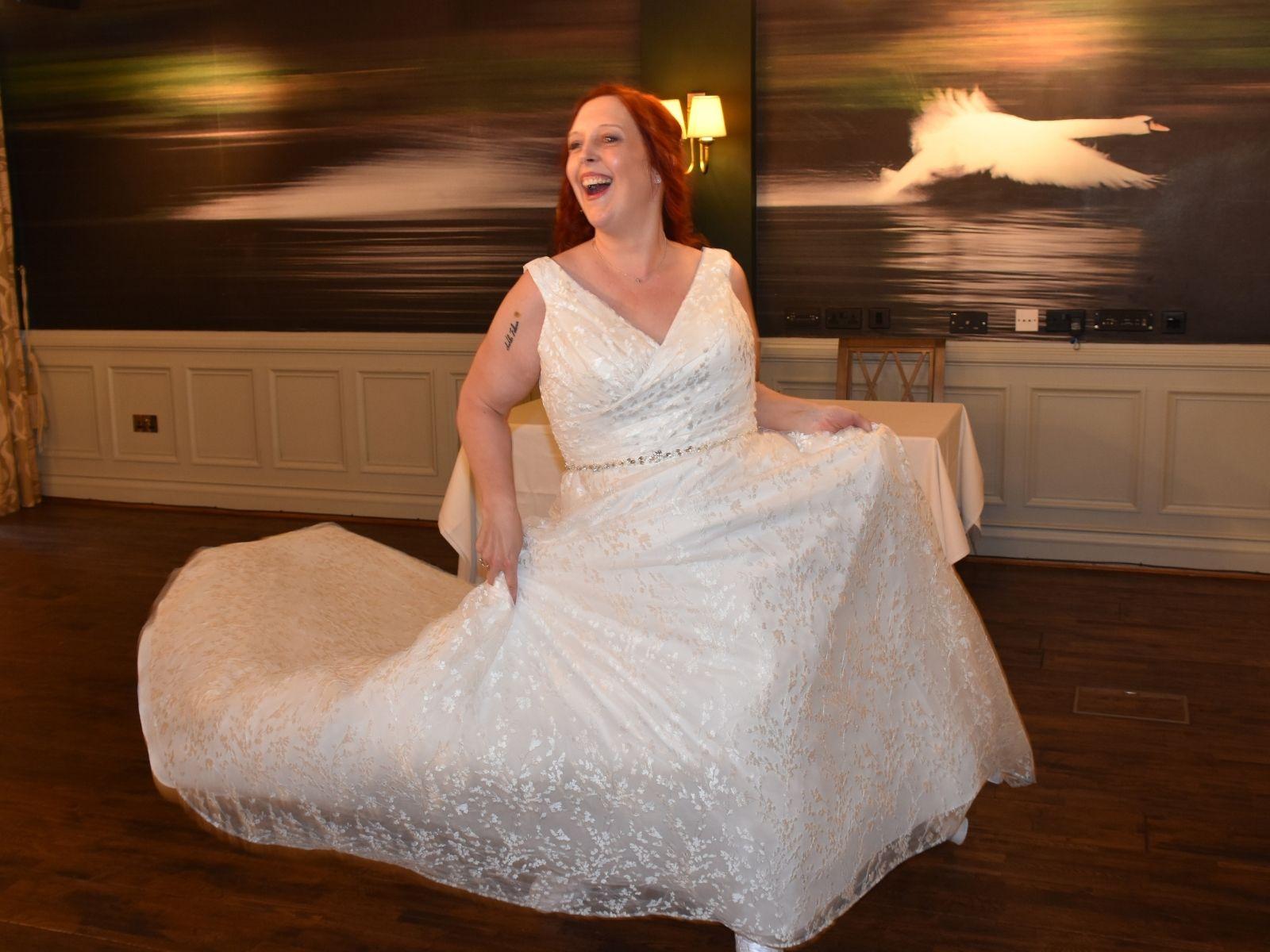 floor length millie may wedding dress