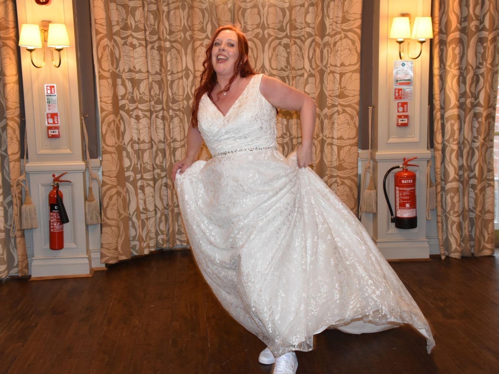 Millie May full length wedding dress
