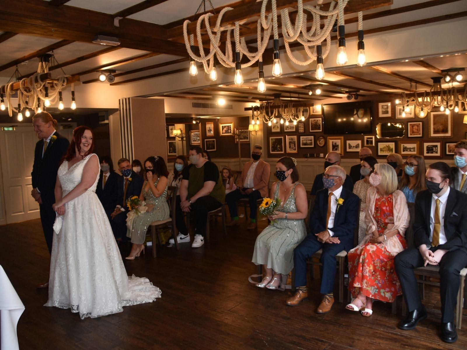 Intimate wedding ceremony Stratford Upon Avon